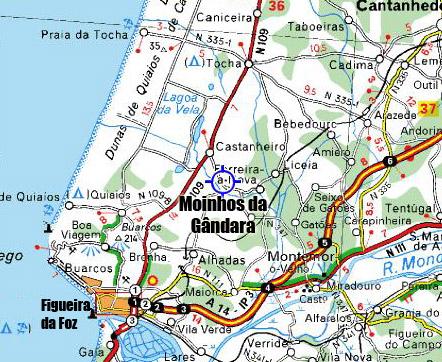 mapa da figueira da foz e arredores Página Oficial da Freguesia de Moinhos da Gândara mapa da figueira da foz e arredores